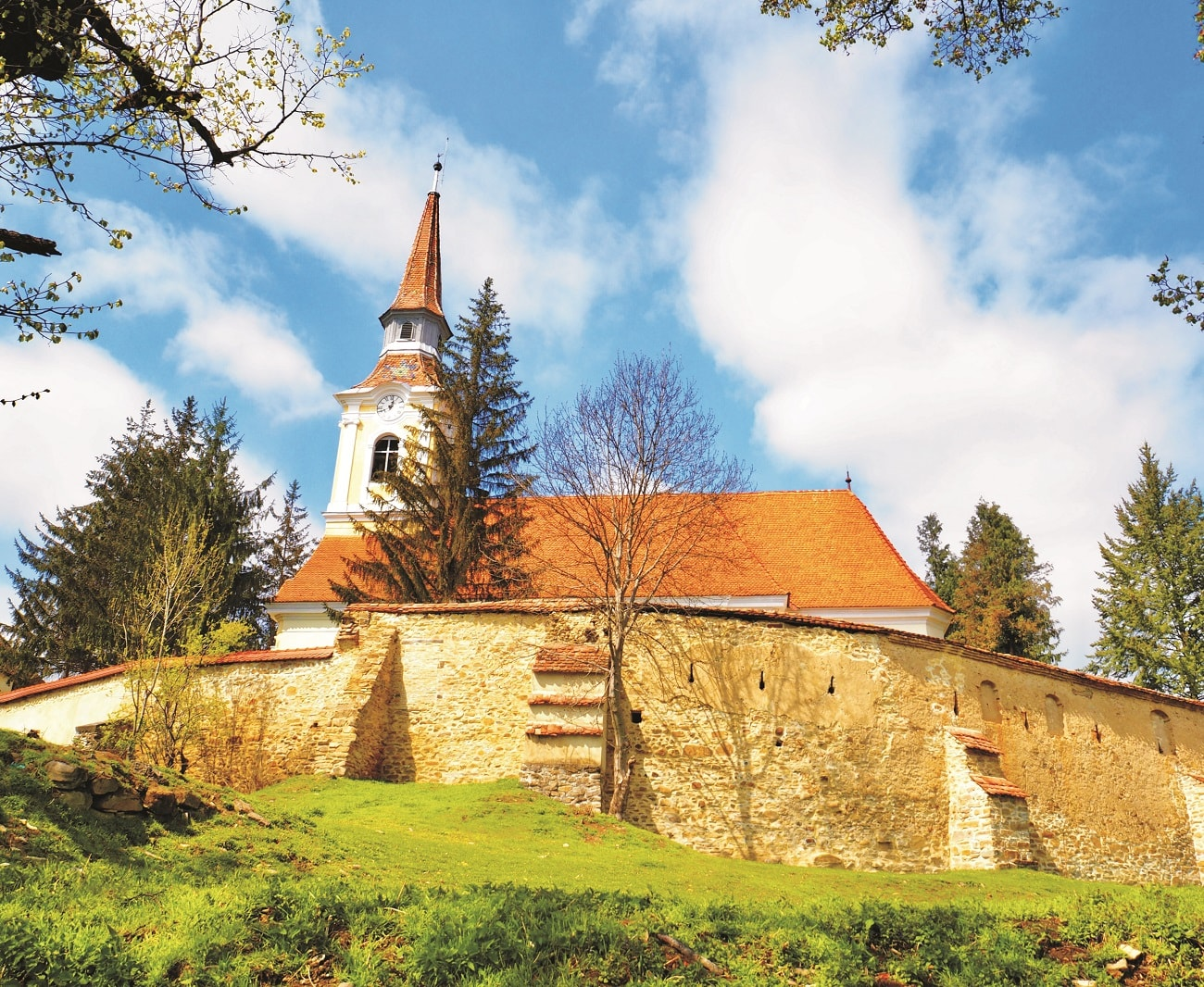 Fortified church in crit
